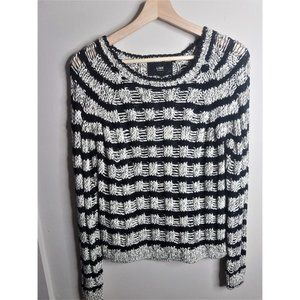 Line the Label striped open knit sweater NWT